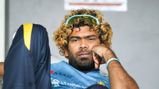 BIG MISS: Sri Lankan fast bowler Lasith Malinga watches his team-mates toil at Hagley Oval earlier this month.