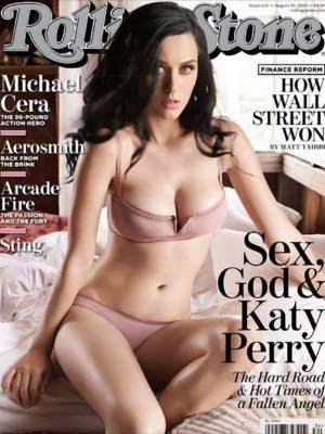 Katy Perry had her legs slimmed, her skin smoothed and her breasts enhanced for her 2009 Rolling Stone cover.
