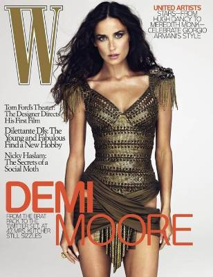 Unlike Kate Winslet, Demi Moore insists she wasn't photoshopped for her cover of W magazine in 2009, and the magazine ...