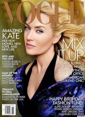 10 years later Kate Winslet was the victim of overzealous photoshopping yet again, but on the cover of Vogue. He skin ...