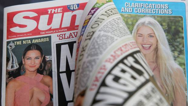 "NOT GOING AWAY: The Sun's edition last week published photos of a topless woman, after reports that the ""Page 3"" feature ..."