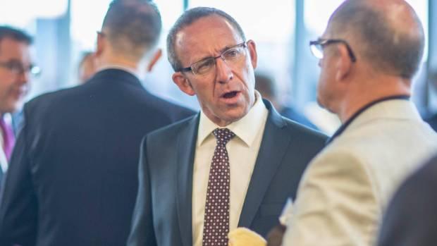 "CHAT: Andrew Little talks with guests ahead of his first ""state of the nation"" speech."