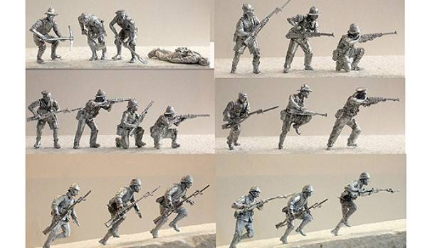 TINY TROOPS: Examples of the pewter soldiers, which have been created by renowned British wargaming sculptors Alan and ...