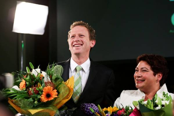 Russel Norman and Meteria Turei after September 20's election results.