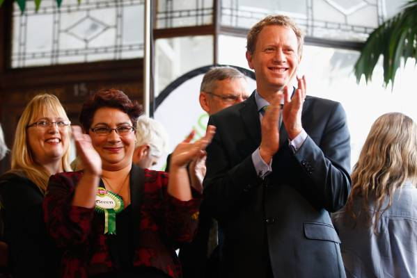 Russel Norman and Metiria Turei at St Kevin's Arcade, Auckland, at a campaign event before last year's general election.
