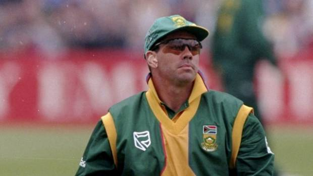 South African captain Hansie Cronje, who was caught match-fixing.