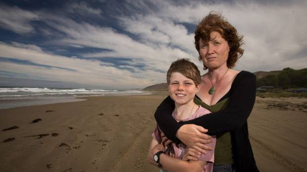 SAFE: Bridget Freeman-Rock and Lief Rock were rescued from the surf at Mangakuri Beach, Central Hawkes Bay.