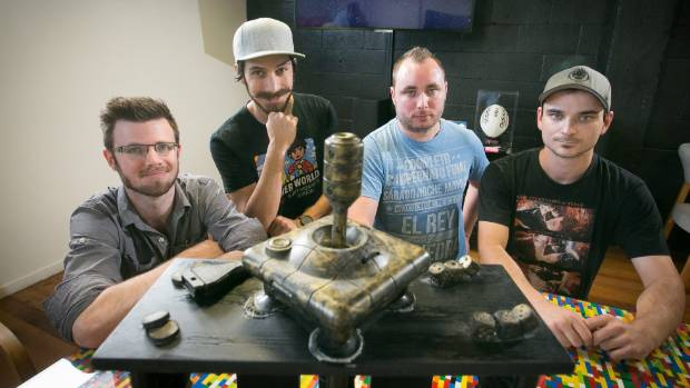 TOP OF THEIR GAME: Team Gravity Jam won the local Global Game hosted at Waikato University. From left, Mike Blanchett, ...