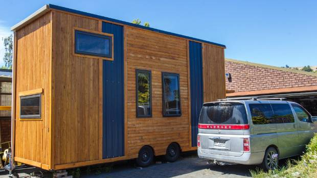 TRAILER HOME: The tiny, custom-made house from the outside.