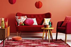 Used minimally or maximally, red and pink feels right at home.
