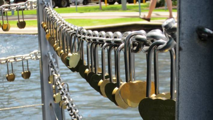 Love padlocks locations