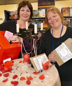 Blind Dater's, Invercargill city library learning connections coordinator, Tracy Pasco and librarian Mandy Stenton  ...