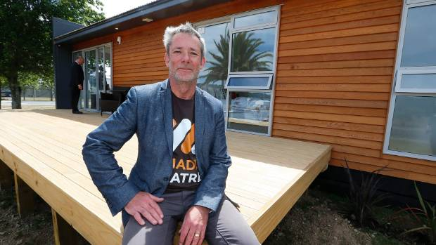 Matrix Homes managing director Sean Murrie outside of one of their new homes built in a factory as a way to cut costs.