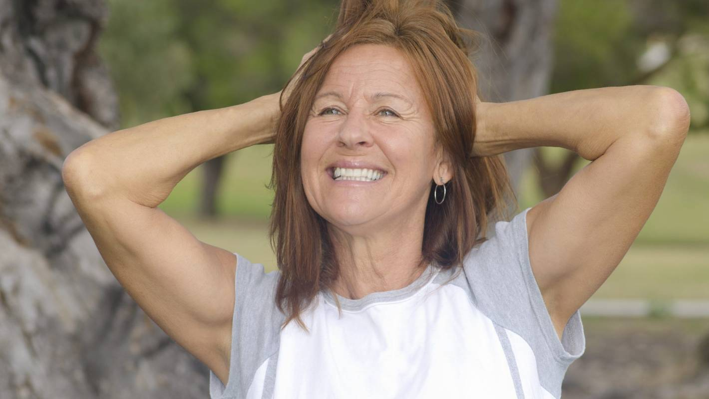 Mature woman with positive outlook
