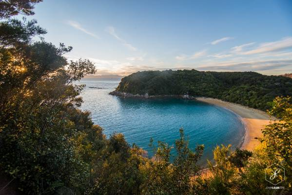 """""""Early morning at Te Pukatea Bay, Abel Tasman National Park. With friends, we camped just 10 minutes from this stunning ..."""