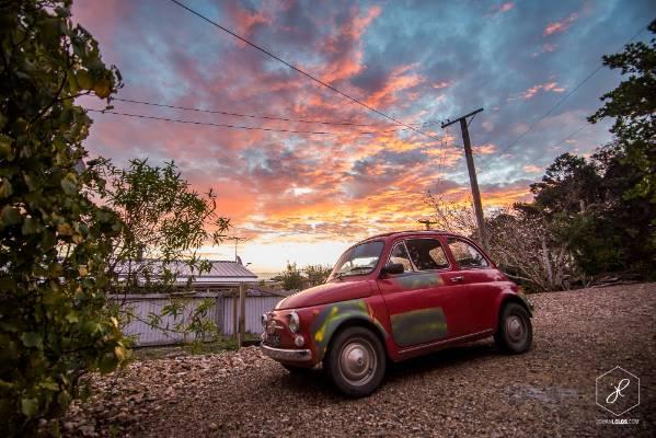 """Sunset on Waiheke Island. I've been amazed by this little paradise and its population."""