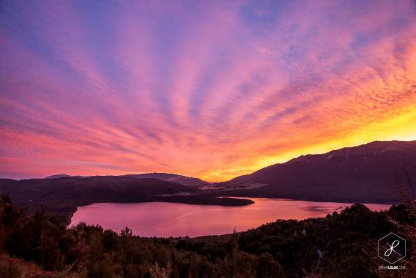 """""""Lake Rotoiti, Nelson Lakes, at sunrise. No contest, this has been the most stunning sunrise I've ever experienced in my ..."""