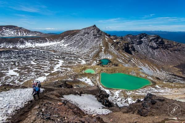 """The emerald lakes of the Tongariro Alpine Crossing."""
