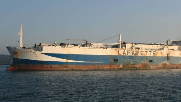 The world's largest fishing vessel, Lafayette, now renamed and reflagged as the Damanzaihao.