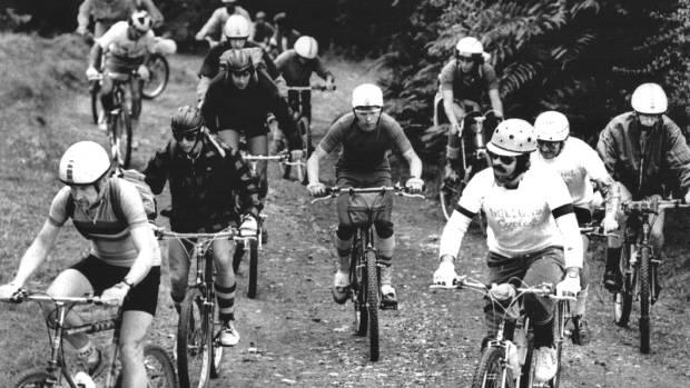 The very first Karapoti classic bike race gets underway in 1986.