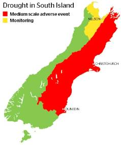 Drought in the South Island.