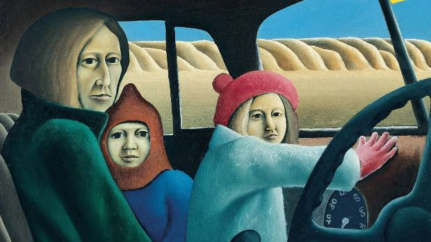 CASE IN POINT: Michael Smither's work Family in a Van originally sold for $400 in the early 1970s. It was for sale in ...