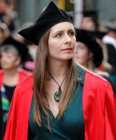 Eleanor Catton receives an honorary doctorate in literature from Victoria University of Wellington.