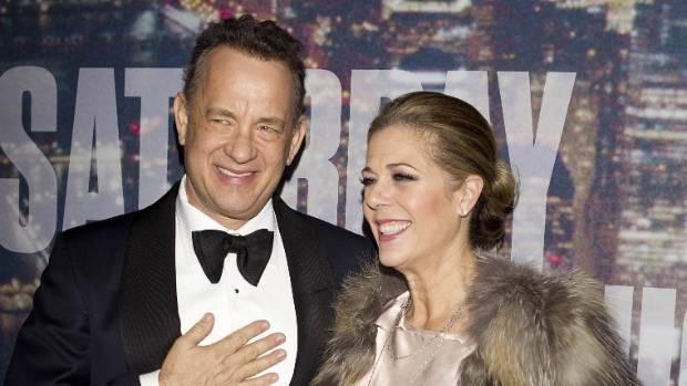 Actor Tom Hanks and wife actress Rita Wilson.