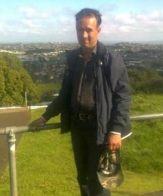 HAPPIER TIMES: A shot of murdered man Maqbool Hussain on Mt Eden.