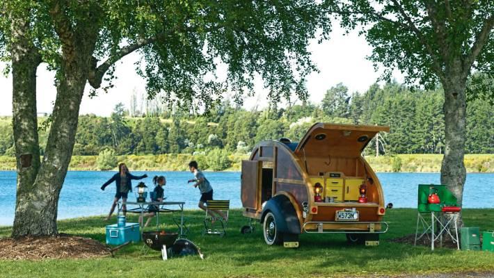 Adventures in a Woody Teardrop caravan | Stuff co nz