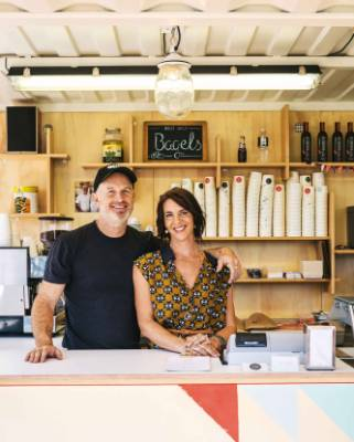 ON THE JOB: Geoff and Ana ready for business at the Island Gelato Co.