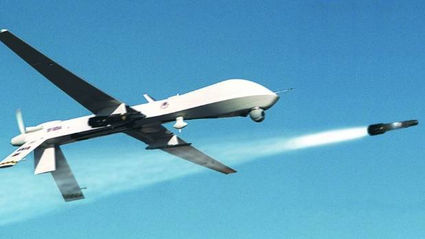 NO FLY ZONE An Unmanned Predator Drone Fires A Missile