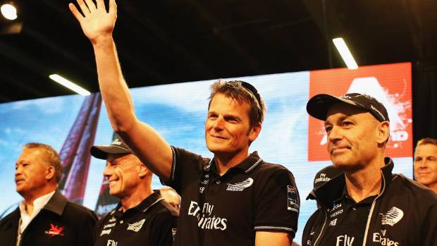 IS THIS THE END? Dean Barker waves to fans in Auckland after Team NZ's America's Cup loss to Oracle.