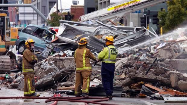 Quake damage in Christchurch.