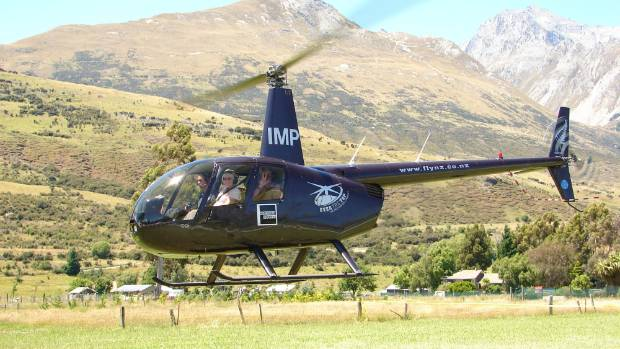 One of Over the Top Helicopter's Robinson 44 helicopters.