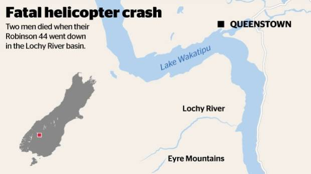Map of helicopter crash location