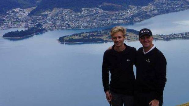 ST ANDREW'S OLD BOY: James Louis Patterson Gardner, 18, with John Key.