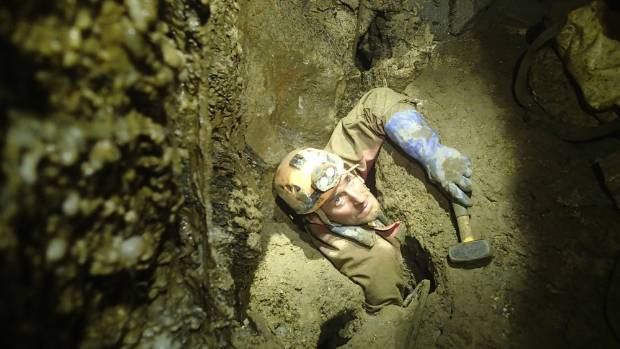 Arrived: With his feet in the Nettlebed  ystem and his head in Stormy Pot, caver Kieran McKay  was among a team of ...