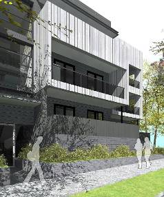 FIRST IMPRESSION: The special housing area  as it will look from Mt Eden Rd.