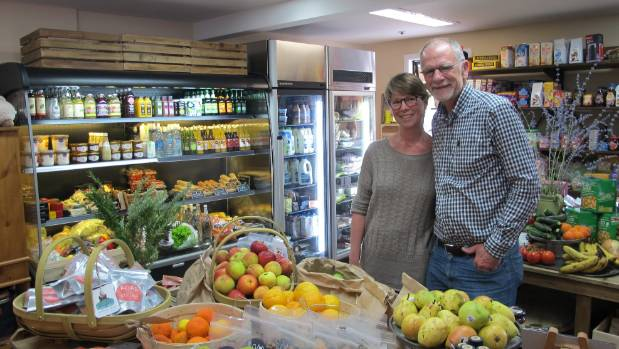 TOWN RIFT: Debbi and Paul Brainerd in the new Glenorchy General Store