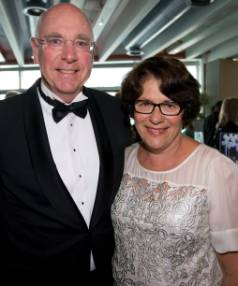 Sir Stephen Tindall and Margaret Tindall in November 2013.