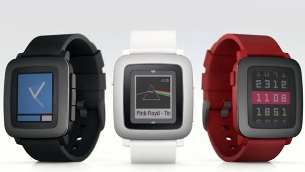 The Pebble Time features a colour e-paper screen and a new timeline interface.