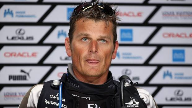 Team NZ skipper Dean Barker cut a devastated figure after being unable to halt the charge of the US boat.