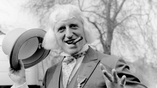 Jimmy Savile in 1972 - he was one of the most famous faces on UK TV throughout his life.
