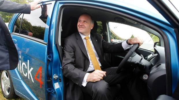 DON'T DO IT: Prime Minister John Key, seen trying out an electric car in 2011 at the Nelson Environment Centre, says ...