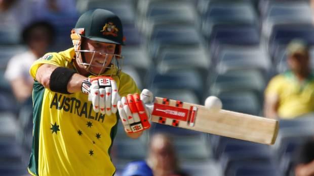 EXPLOSIVE TALENT: Australian batsman David Warner is averaging 66 at the Cricket World Cup.