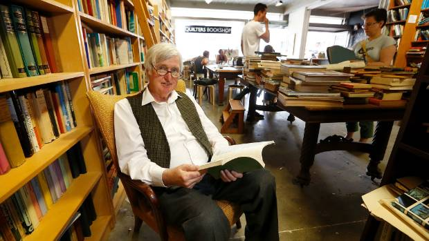 LAST PAGE: John Quilter, of Wellington's Quilters Bookshop, is closing down his store after 36 years.