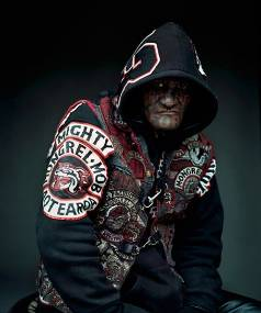 FACE OF A KILLER: Shane Harrison, a convicted murderer featured in Rotman's 'Mongrel Mob Portraits'.