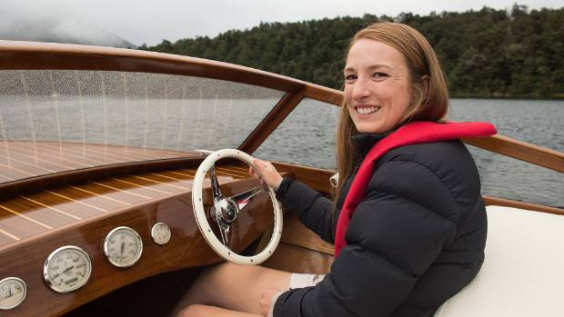 Blenheim woman Rosie Lees won the best overall vessel award at the New Zealand Antique and Classic Boat Show.