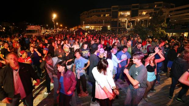 The New Year's Eve celebrations in Picton last year.